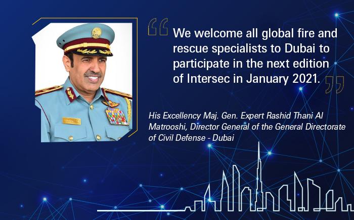 Приглашение главы ГО Дубая на Intersec 2021